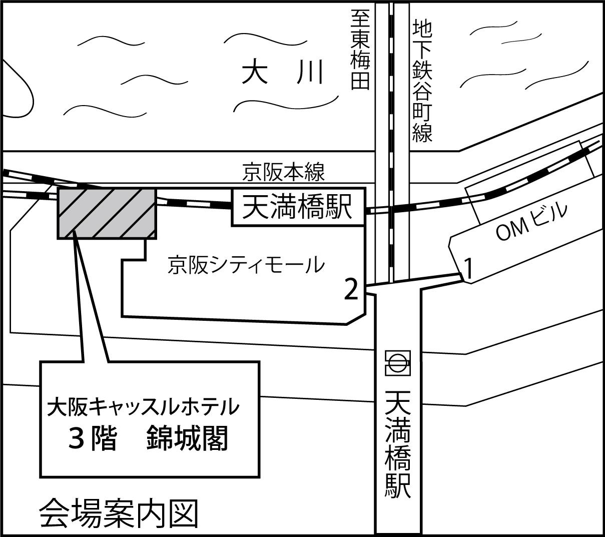 錦城閣地図