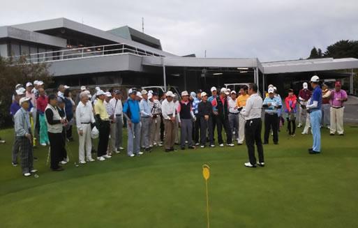 第11回関西鹿児島県人会総連合会ゴルフコンペ様子1